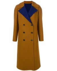 Etro - Double Breasted Coat - Lyst