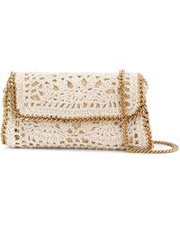 Stella McCartney Sac porté épaule Falabella en crochet - Blanc