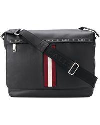 Bally - Stripe Detail Oversized Shoulder Bag - Lyst
