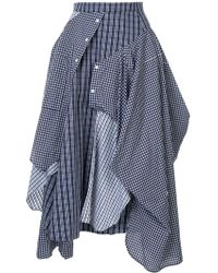 Enfold Deconstructed Shirt-skirt - Blue