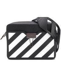 Off-White c/o Virgil Abloh Striped Camera Bag - Black