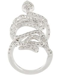 Loree Rodkin - 18kt White Gold And Diamond Snake Ring - Lyst