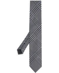 Tom Ford Krawatte mit Hahnentrittmuster - Grau