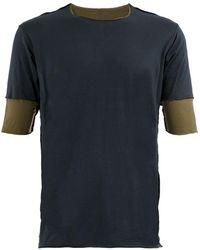 Attachment レイヤード Tシャツ - ブルー