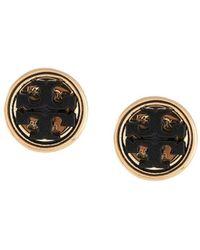 Tory Burch Miller Circle-stud Earrings - Black