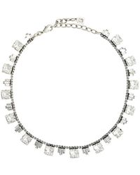 DANNIJO Emilia Crystal-embellished Necklace - Metallic