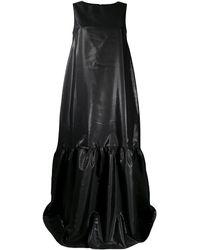 Loulou Vestido largo con capas escalonadas - Negro