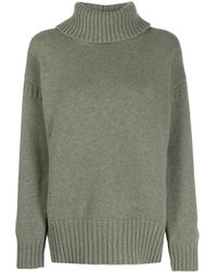 Pringle of Scotland Guernsey Stitch Roll-neck Sweater - Green
