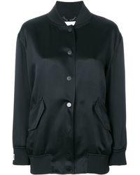 Fendi Куртка-бомбер С Рисунком С Логотипом Сзади - Черный