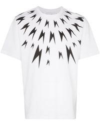 Neil Barrett Meteor Shower Tシャツ - ホワイト