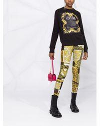 Versace Jeans Couture ロゴ スウェットシャツ - ブラック