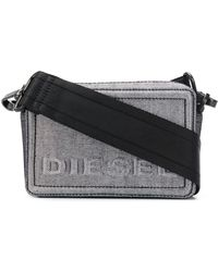 DIESEL Denim Boxy Cross-body - Metallic