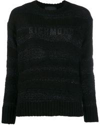 John Richmond メタリック セーター - ブラック