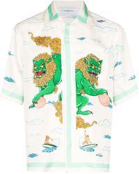 CASABLANCA Zijden Overhemd - Wit