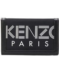 KENZO Portemonnaie mit Logo-Print - Schwarz