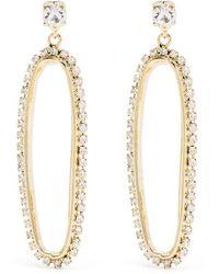 Rosantica Crystal Embellished Hoop Earrings - Metallic