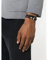 Tom Ford Woven Leather String Bracelet - Zwart