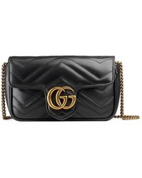 Gucci - GG Marmont Matelass� Leather Super Mini Bag - Lyst