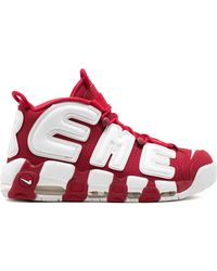 Supreme X Nike Air More Uptempo Trainers - Red