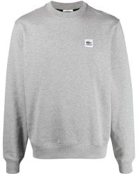 Lacoste L!ive Sweatshirt mit Logo-Patch - Grau