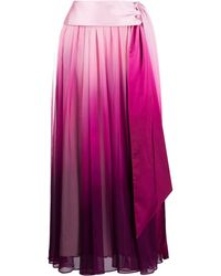 Jonathan Simkhai Tie-waist Ombré Pleated Skirt - Pink