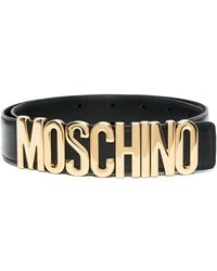 Moschino ロゴプレート ベルト - ブラック