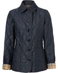 Burberry キルティングジャケット - ブルー
