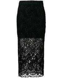 Stella McCartney レーススカート - ブラック
