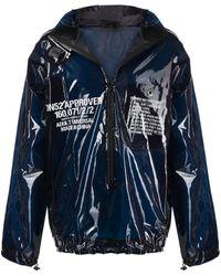 Sankuanz High-shine Hooded Pullover Jacket - Blue