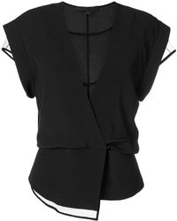 Alexander Wang - Layered Wrap Top - Lyst