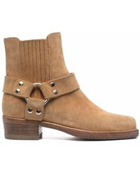 RE/DONE Suede Strap-detail Boots - Brown