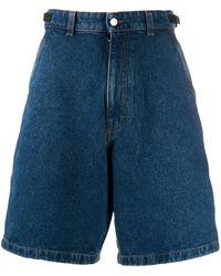 AMI Worker Bermuda Shorts - Blue