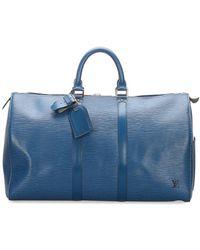 Louis Vuitton 1994 pre-owned Keepall Handtasche, 45cm - Blau
