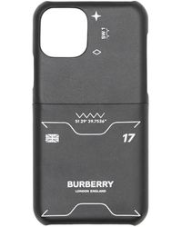 Burberry Symbol Print Leather iPhone 11 Pro Case - Schwarz