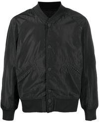 KTZ Slogan-embroidered Bomber Jacket - Black