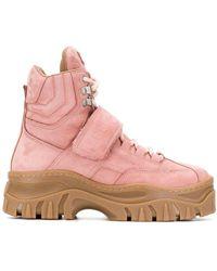 MSGM Platform Boots - Pink