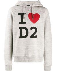 DSquared² T-shirt Met Tekst - Grijs