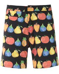 Amir Slama Printed Swimming Shorts - Black