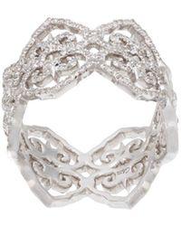 Colette Filigree ダイヤモンドリング 18kホワイトゴールド - マルチカラー