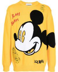 Iceberg Jersey de punto Mickey Mouse - Amarillo