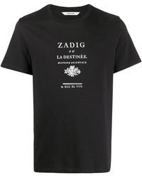 Zadig & Voltaire - スローガン Tシャツ - Lyst