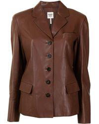 Hermès Однобортный Блейзер Pre-owned - Коричневый
