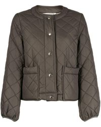 Mackintosh Diamond Quilted Jacket - Green