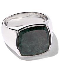 Tom Wood - Cushion Green Marble Ring - Lyst