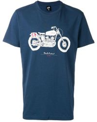 Deus Ex Machina - Motorbike Print T-shirt - Lyst