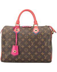 Louis Vuitton Speedy 30 Flamingo モノグラム トートバッグ - ブラウン
