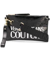Versace Jeans Couture Клатч С Тисненым Логотипом - Черный