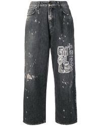 Gaëlle Bonheur - Cropped Wide Leg Jeans - Lyst