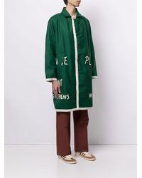 Bode Cappotto con stampa - Verde