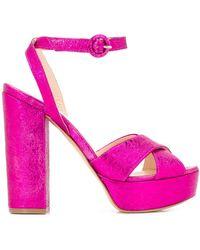 P.A.R.O.S.H. Босоножки Cathy На Платформе - Розовый